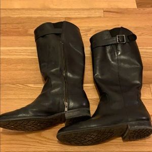 Black leather LL Bean boots size 8 1/2